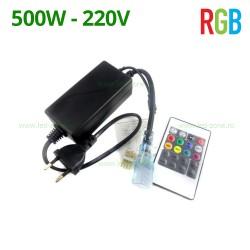 Controller Banda LED RGB 220V 500W Telecomanda IR Slim
