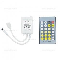 Controller Banda LED Dual White CCT 6A IR