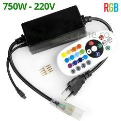 Controller Banda LED RGB 220V 750W Telecomanda IR Alba