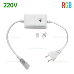 Controller Banda LED RGB SMD 5050 220V cu Buton