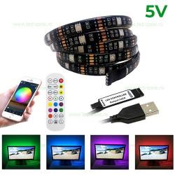 Kit Banda LED 5050 RGB 5V USB WIFI Telecomanda Rola 3M
