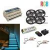 Kit Banda LED RGB Iluminat Inteligent Trepte