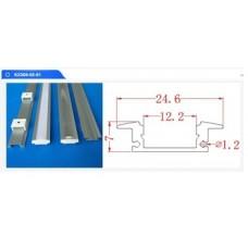 Profil Aluminiu Incastrat Dispersor Mat LZ109