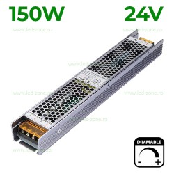 Sursa Alimentare Banda LED 24V 150W Slim Dimabila TRIAC