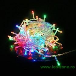 Instalatie Pom Craciun 100 LED-uri Diverse Culori Fir Transparent