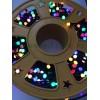 Instalatie Pom Craciun 500 LED-uri 8mm Diverse Culori Fir Negru