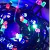 Instalatie Pom Craciun 60 LED-uri 8mm Stea Fir Negru
