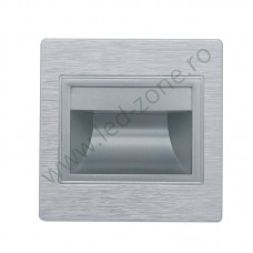 Spot LED 1.5W Patrat Argintiu Trepte