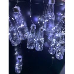 Instalatie LED Ghirlanda 10 Sticlute Diverse Culori