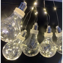 Instalatie LED Ghirlanda 5 Becuri A80 Clar Diverse Culori