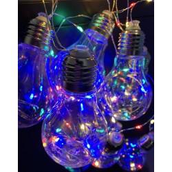 Instalatie LED Ghirlanda 10 Becuri A60 Clar Diverse Culori