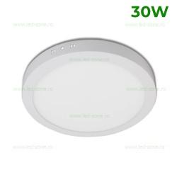 Panou LED 30W Rotund D27cm Aplicat Alb