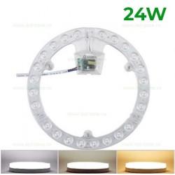 Kit LED Plafoniera 24W Rotunda SMD2835 3 Functii