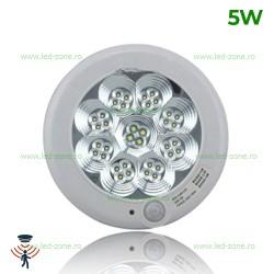 Plafoniera LED 5W Senzor Rotunda Clara