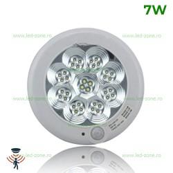Plafoniera LED 7W Senzor Rotunda Clara