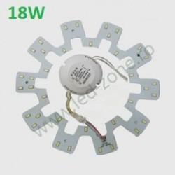 Kit LED Plafoniera 18W Rotund