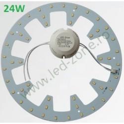 Kit LED Plafoniera 24W Rotund