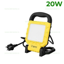 Proiector LED 20W 220V cu Suport Pliabil
