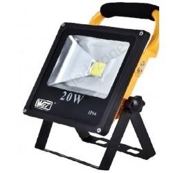 Proiector LED 20W Slim Acumulator si Suport