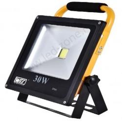 Proiector LED 30W Slim Acumulator si Suport