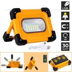Proiector LED 30W Solar Acumulator USB Police