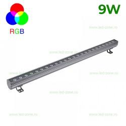 Proiector LED 9W 220V Liniar 50cm RGB