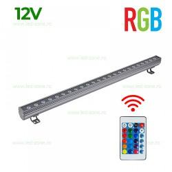 Proiector LED 9W 12V Liniar 50cm RGB Telecomanda