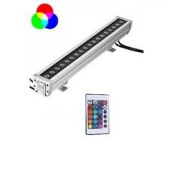 Proiector LED 36W 220V Liniar RGB Telecomanda 100cm