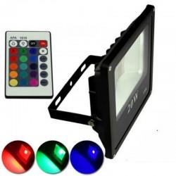 Proiector LED 20W Slim RGB Telecomanda