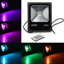 Proiector LED 30W Slim RGB Telecomanda