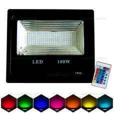 Proiector LED 100W Slim SMD RGB Telecomanda