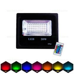 Proiector LED 20W Slim SMD RGB Telecomanda