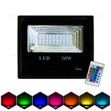 Proiector LED 30W Slim SMD RGB Telecomanda