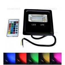 Proiector LED 10W Slim SMD RGB Telecomanda