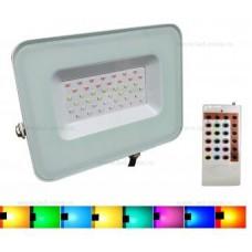 Proiector LED 30W 220V RGB Telecomanda RF
