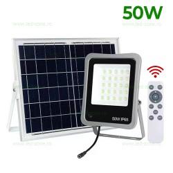 Proiector LED 50W Slim cu Panou Solar si Telecomanda LZTKE50