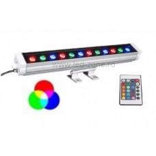 Proiector LED 12W 220V Liniar 30cm RGB Telecomanda