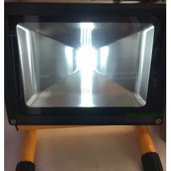 Proiector LED 20W COB Acumulator si Suport Police