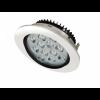 Spot LED 12x1W Rotund Mobil Alb-Negru