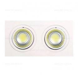 Spot LED 2x5W Dreptunghiular COB Mobil Alb