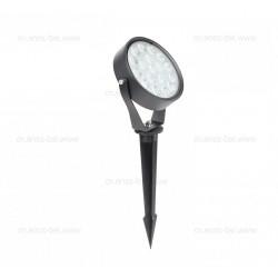 Spot LED Exterior 15W Rotund Negru