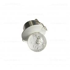 Spot LED 3W Mini Glob Sticla Rotund Alb