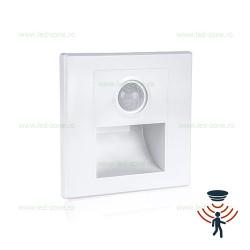 Spot LED 2W Patrat Alb Trepte Senzor