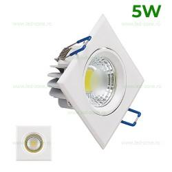 Spot LED 5W COB Patrat Mobil Alb Victoria