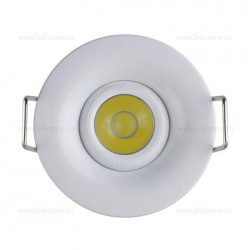 Spot LED 1W Rotund COB Mobil Alb