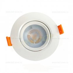 Spot LED 12W COB Rotund Mobil Alb ABS