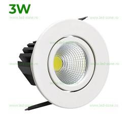Spot LED 3W COB Rotund Mobil Alb Sara