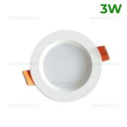 Spot LED 3W Rotund Alb CTD