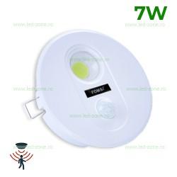 Spot LED 7W COB Rotund cu Senzor Miscare
