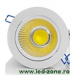 Spot LED 20W COB Rotund Mobil Alb